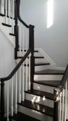 3 ½ x 3 ½ square railing white oak, 2 ¾ x 1 ¾ custom made white oak posts